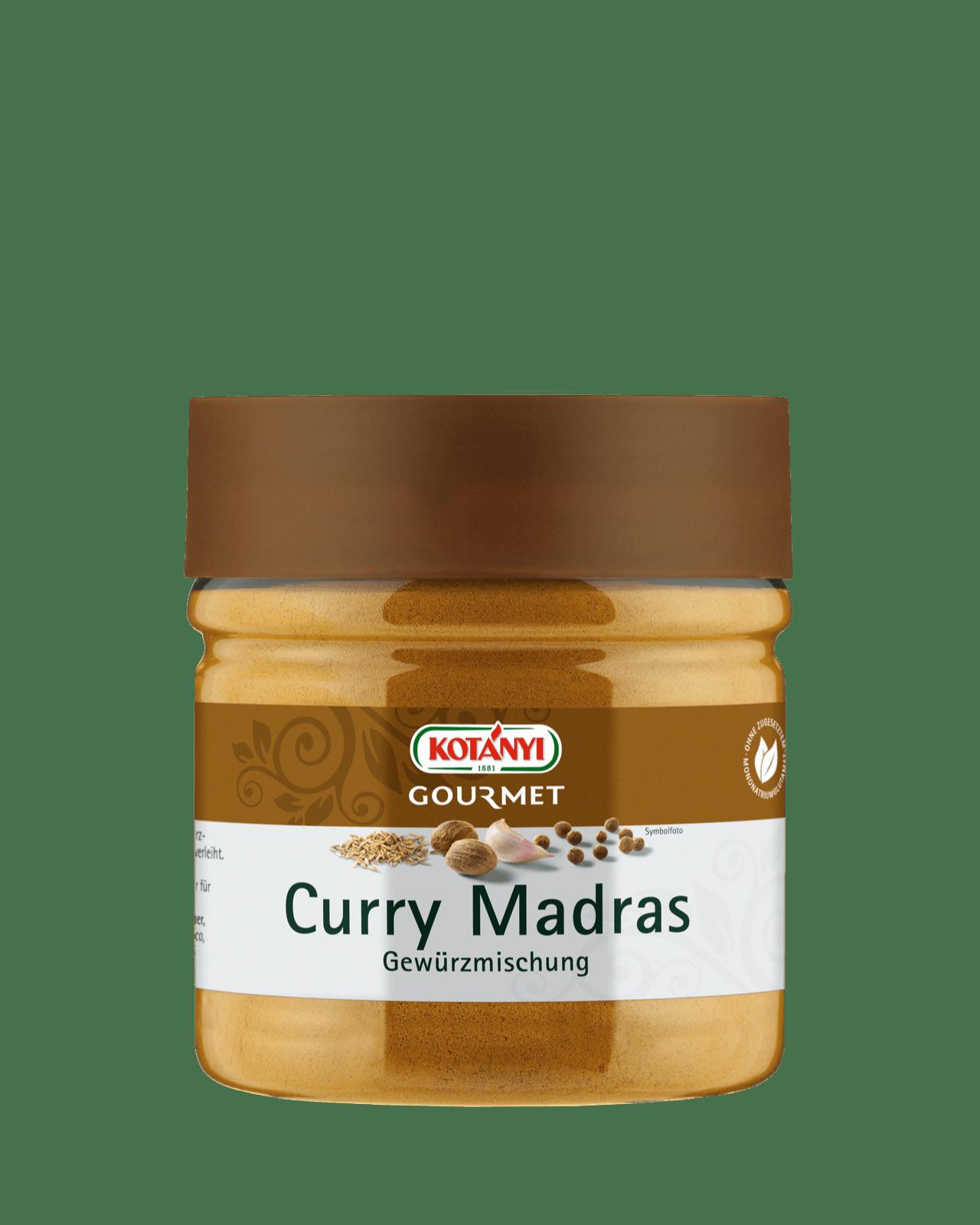 Kotányi Gourmet Curry Madras Gewürzmischung in der 400ccm Dose