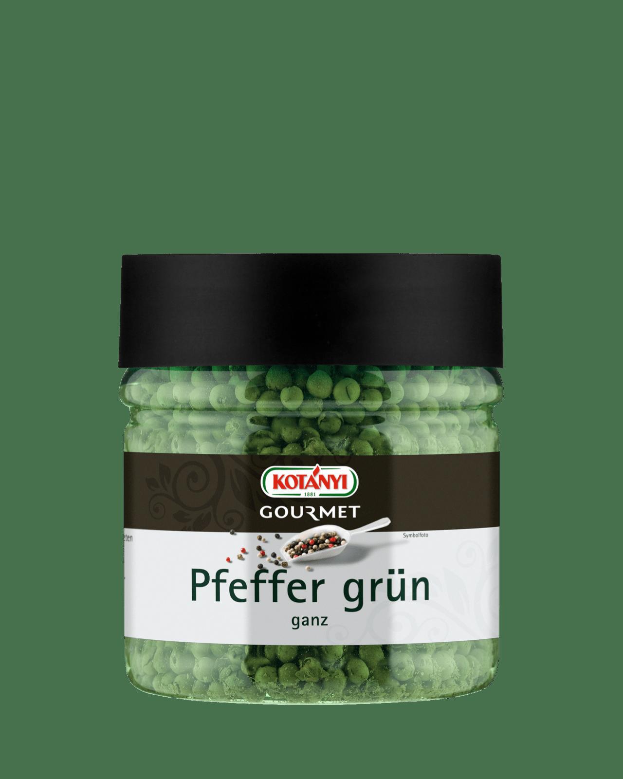 Kotányi Gourmet Pfeffer grün ganz in der 400ccm Dose