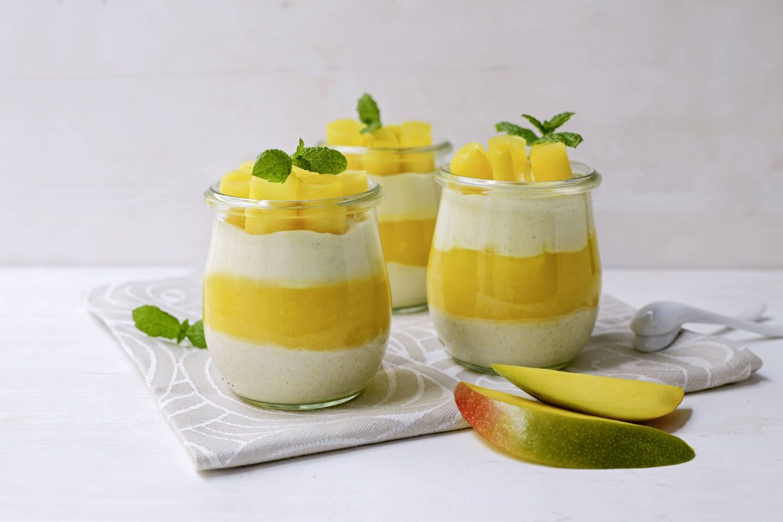 Mango-Topfens-Schichtdessert mit VEGGY Sweet
