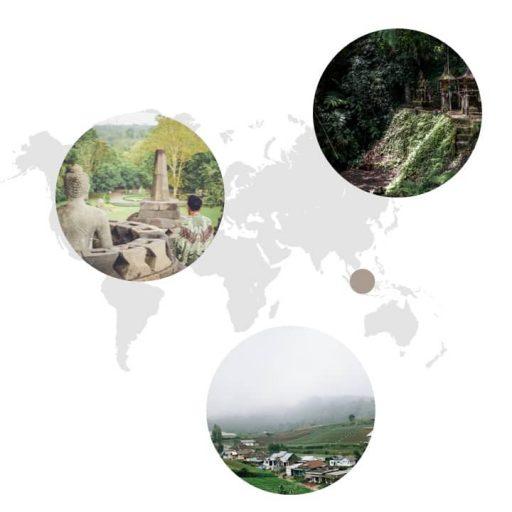 Ursprungsgebiet von Nelken auf der Weltkarte: Indonesien