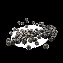 schwebender schwarzer Pfeffer