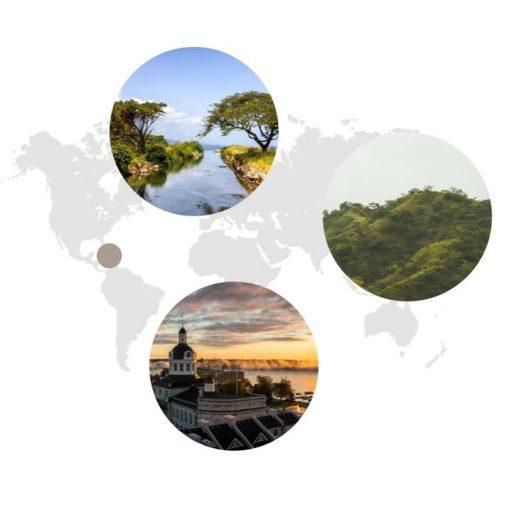 Ursprungsgebiet von Piment auf Weltkarte: Mexico
