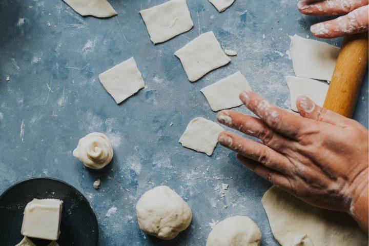 Zubereitung von Teigtaschen
