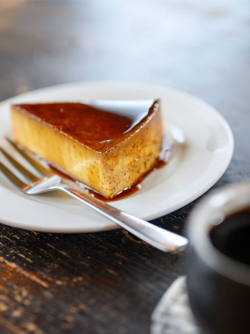 Flan with caramel topping