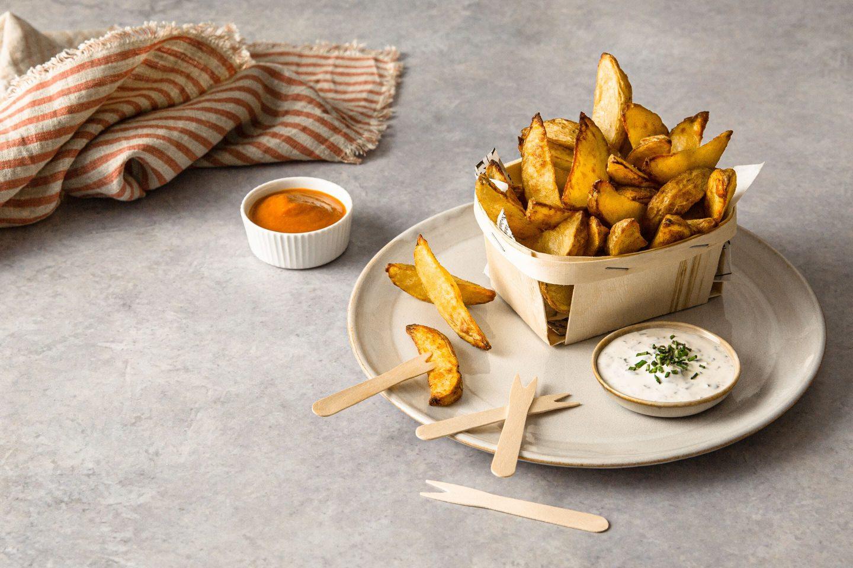Crunchy Potato Wedges Mit Dips