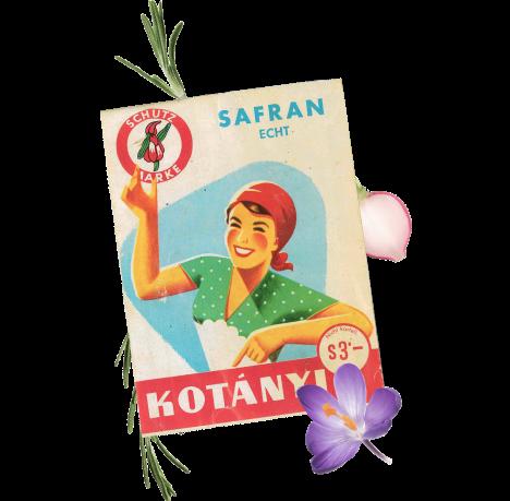 Un plic de condimente Kotányi din anii '30.