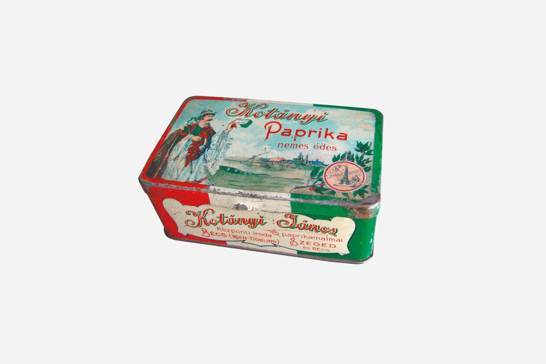 Ambalaj de boia de ardei dulce măcinată Kotányi din 1900