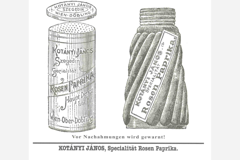 Doză de boia de ardei dulce Kotányi din 1900