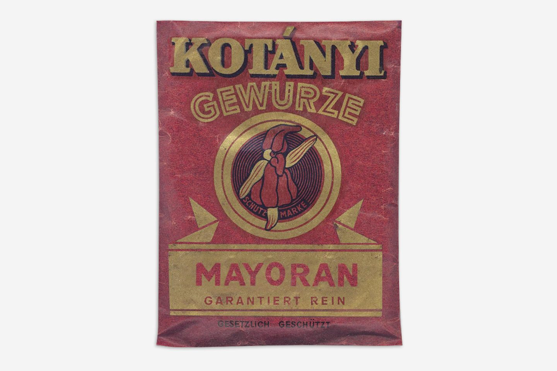 Un plic de măghiran Kotányi din 1900.