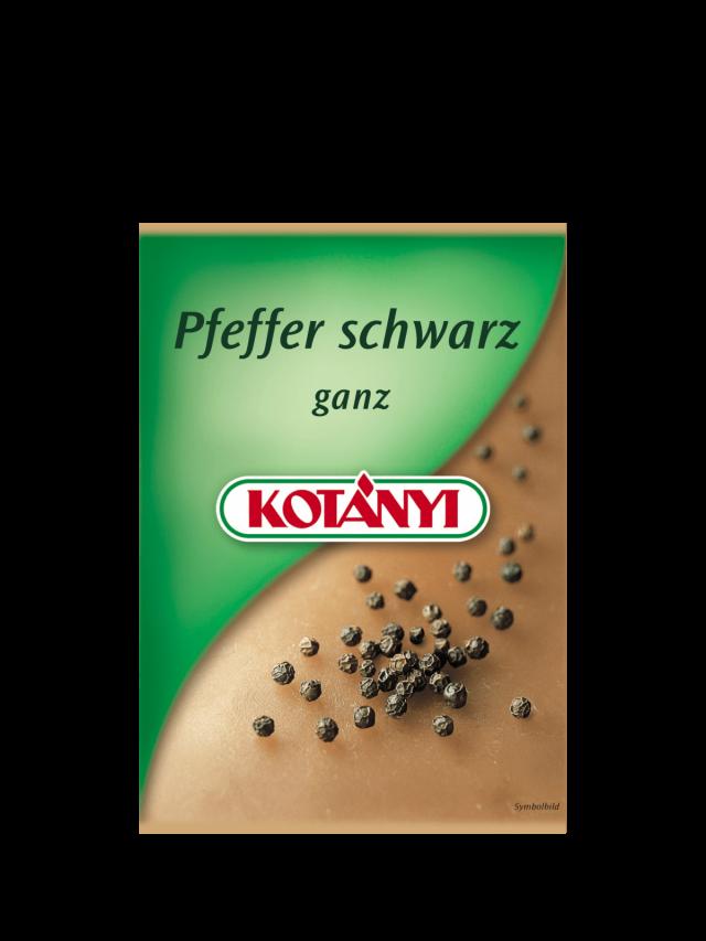 Un plic cu piper negru Kotányi din anii 2000.