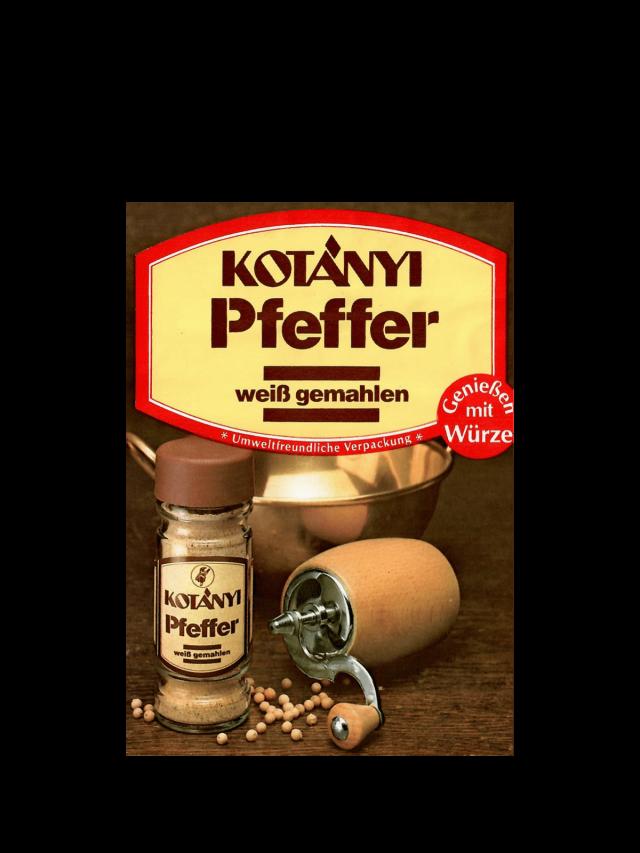 Un plic cu piper alb Kotányi din anii '80.